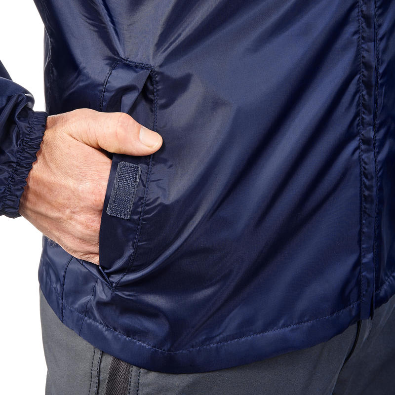 Men's Raincoat NH100 (Full Zip) - Navy