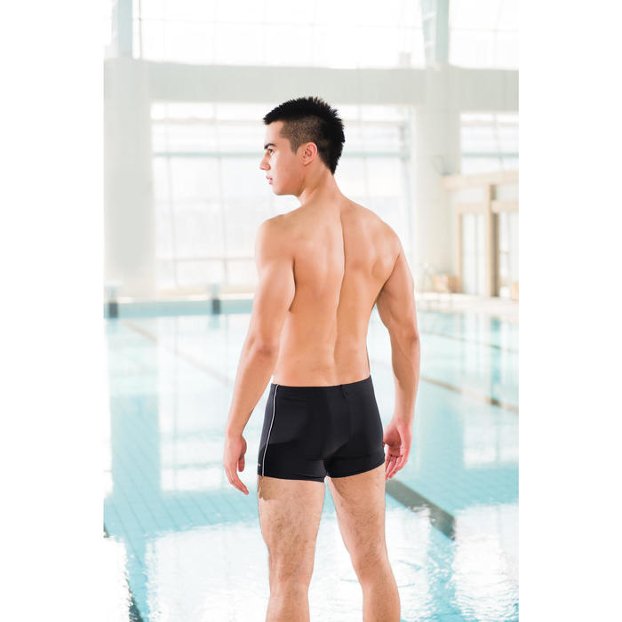男款四角泳褲100 PLUS - PIP黑色