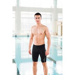 男款競賽及膝泳褲900-黑色圓點
