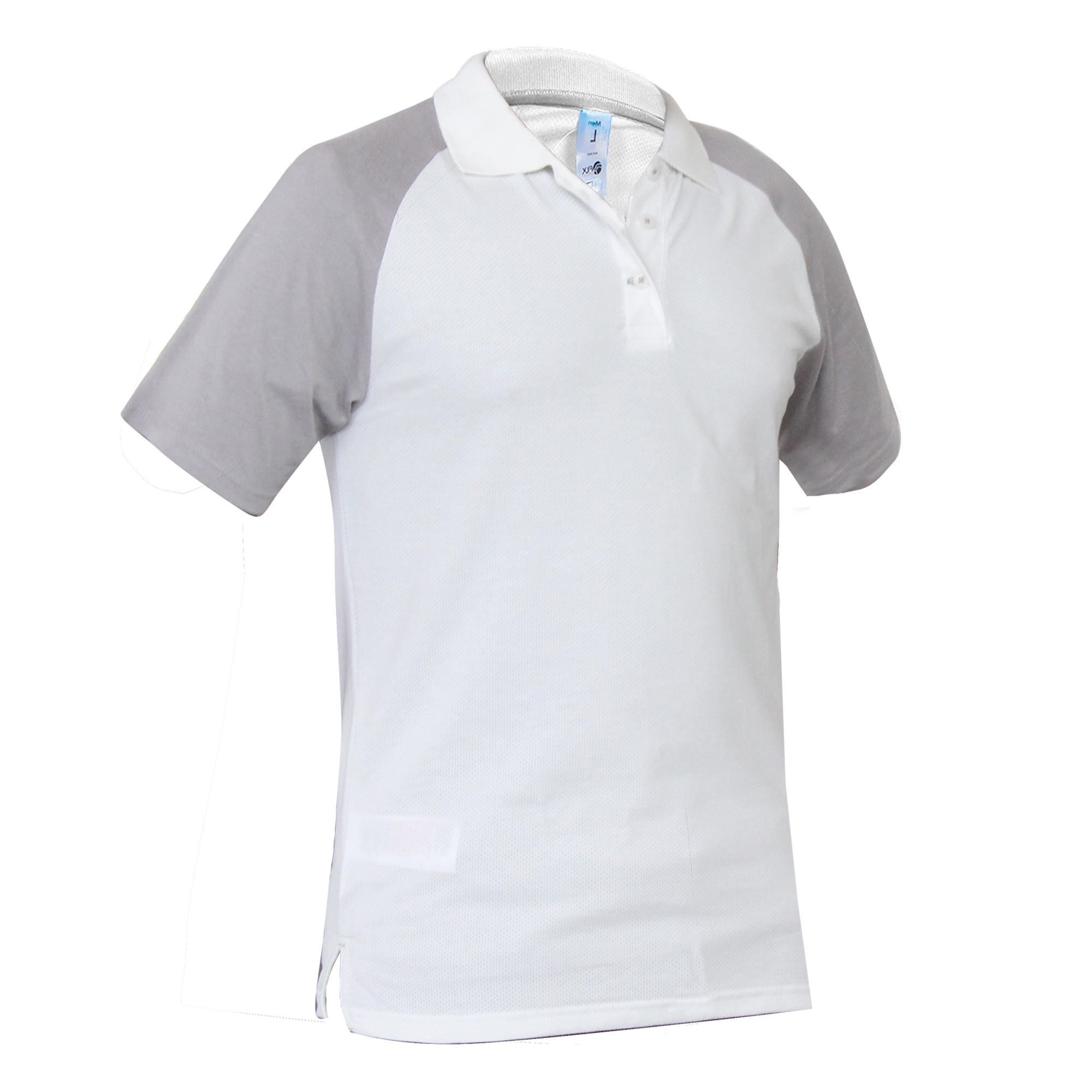 Cricket Polo T-shirt CT520 - White/Grey