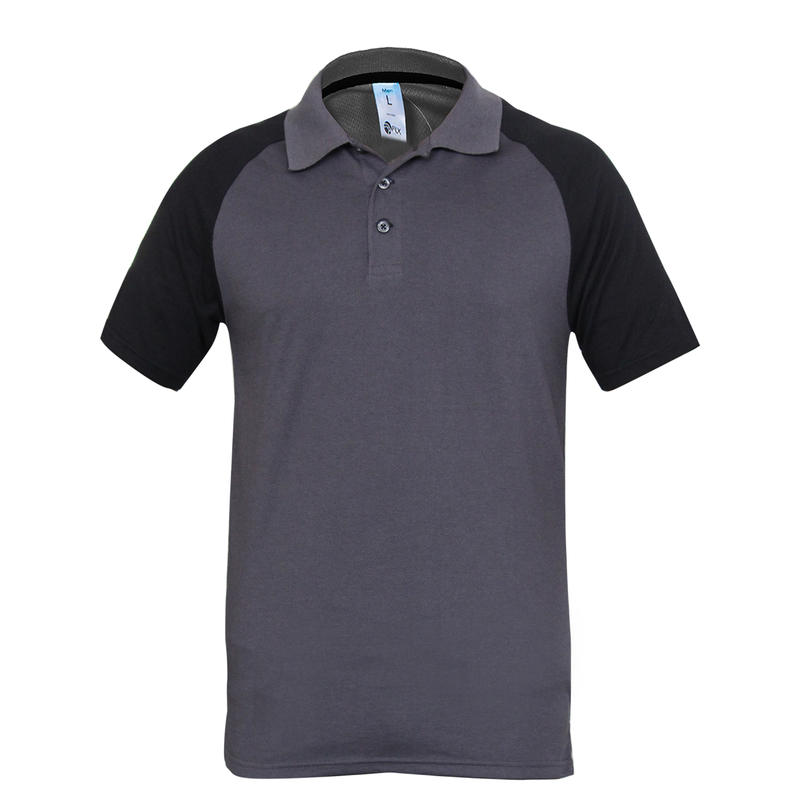 Adult Cricket Polo T-shirt CT520 - Grey/Black