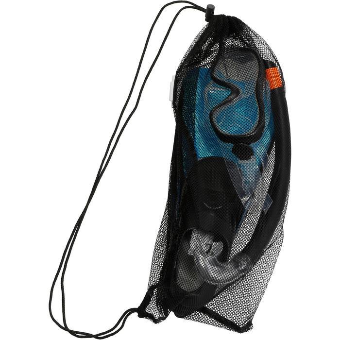Schnorchel-Set Freediving PMT100 Kinder blau/schwarz