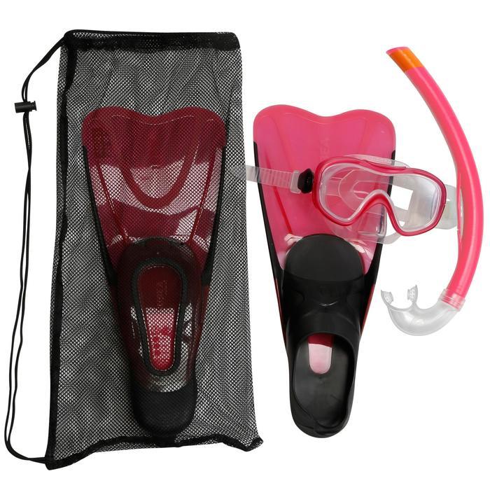 Kit de snorkeling PMT palmes masque tuba 100 adulte - 1172439