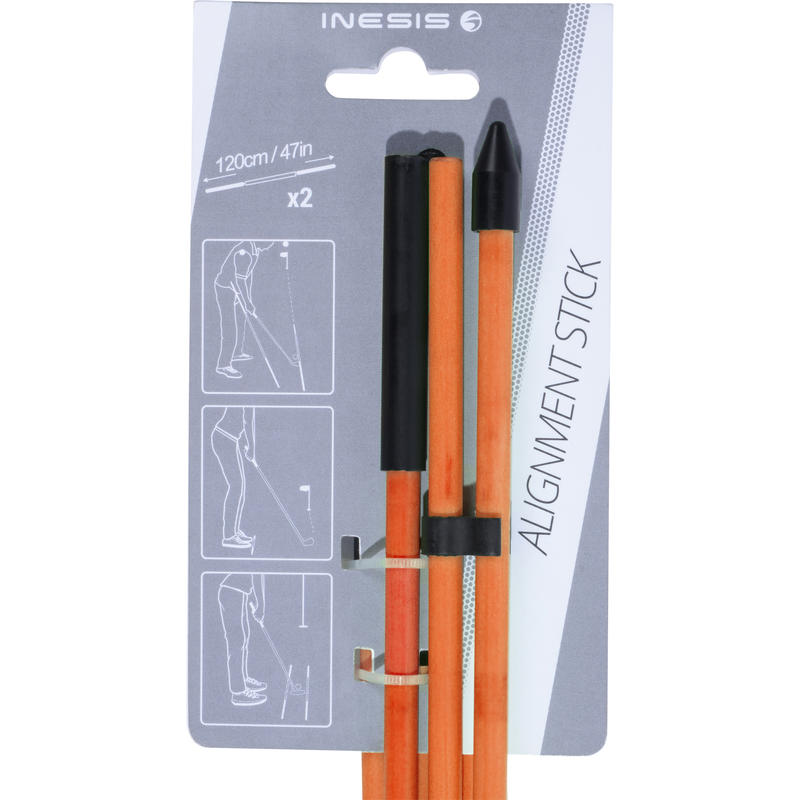 Orange alignment sticks x2