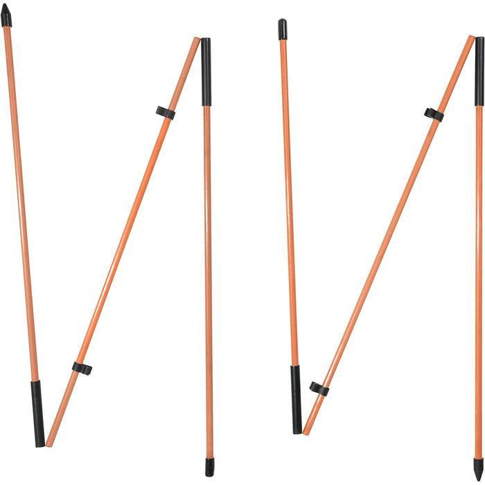 Golf Ausrichtungsstäbe 2 Stück orange