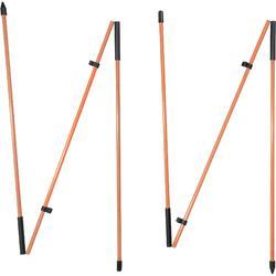 Oplijnstokken x2 oranje
