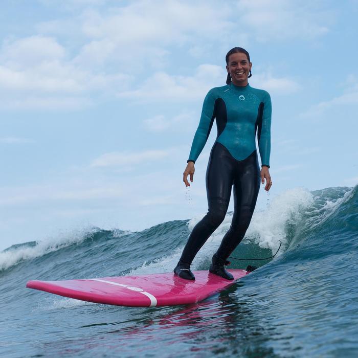 ee56e2d95a 100 Women's 4/3 mm Neoprene Surfing Wetsuit - Blue