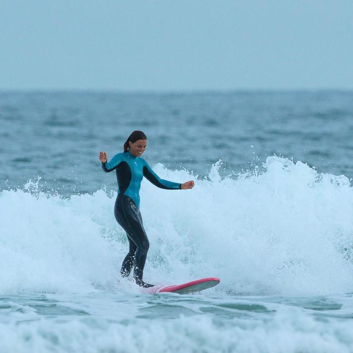 Combinaison SURF 100 Néoprène 4/3 mm Femme bleu - 1172668