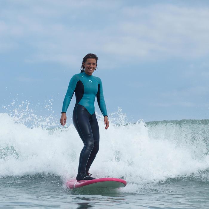 Combinaison SURF 100 Néoprène 4/3 mm Femme bleu - 1172669