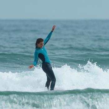 Combinaison SURF 100 Néoprène 4/3 mm Femme bleu - 1172670