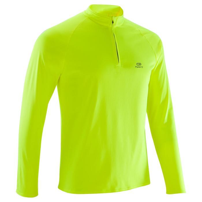 Loopshirt met lange mouwen Run Warm voor heren geel
