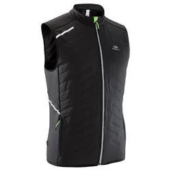 Bodywarmer voor hardlopen heren Run Warm+ zwart