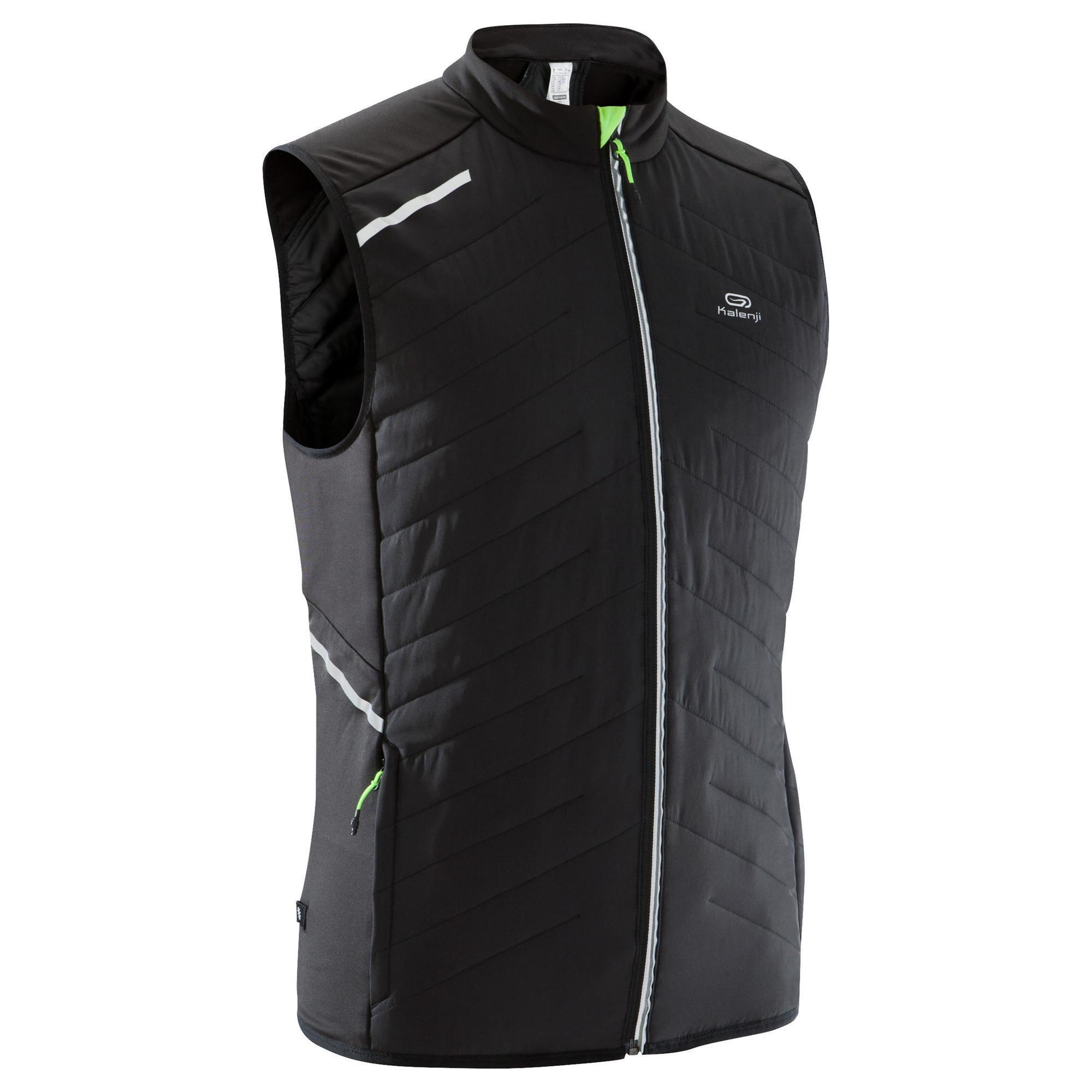 Laufweste Run Warm+ Herren schwarz | Sportbekleidung > Sportwesten > Laufwesten | Kalenji