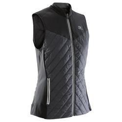 RUN WARM WOMEN'S RUNNING SLEEVELESS GILET - BLACK