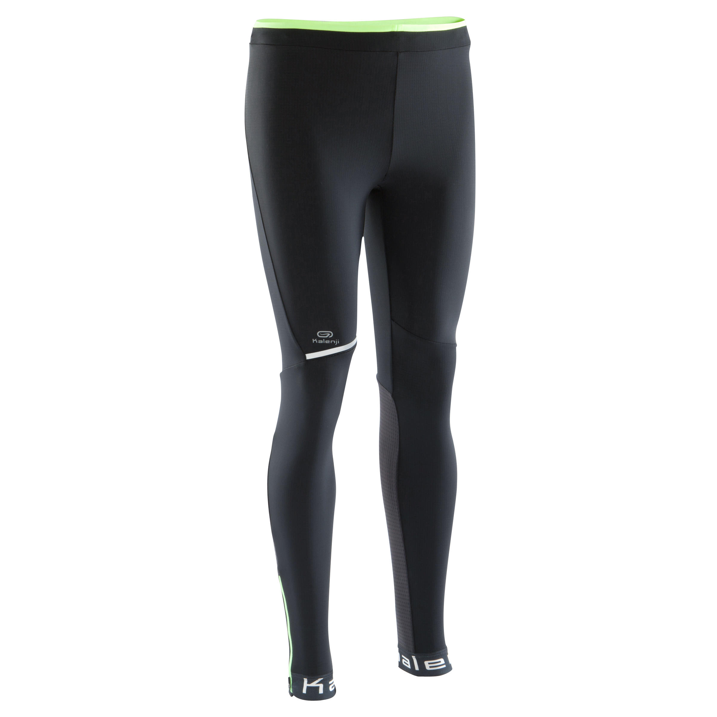 Kiprun Warm Men's Running Tights - Black/Yellow