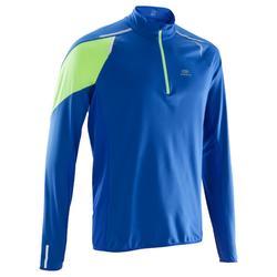 Kiprun Warm Zip Long-Sleeved Men's Running T-Shirt - Blue