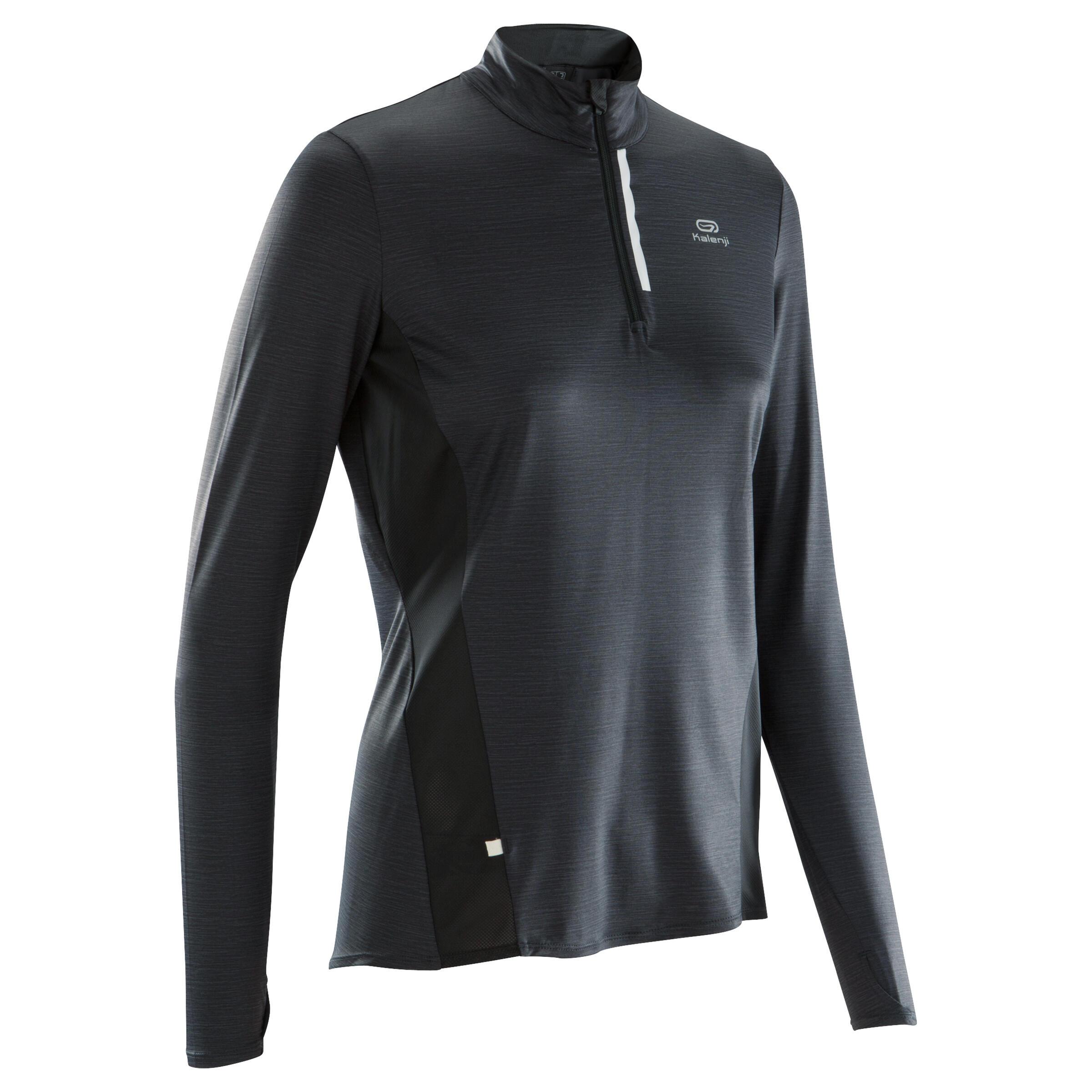 Laufshirt langarm Run Dry+ Zip Damen | Sportbekleidung > Sportshirts | Kalenji