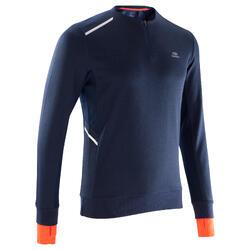 Run Warm+ 男性保暖長袖跑步上衣 - 深藍色