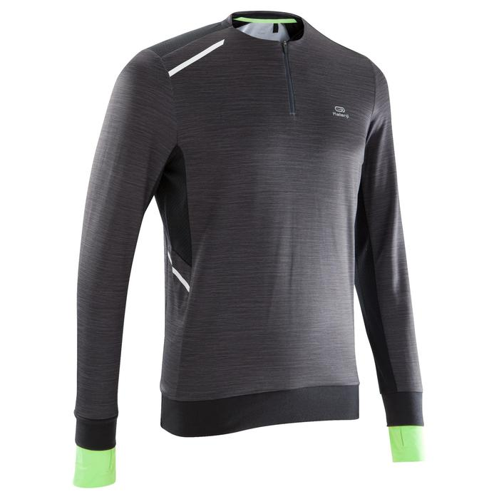 TEE SHIRT MANCHES LONGUES RUNNING HOMME RUN WARM+ NOIR CHINé