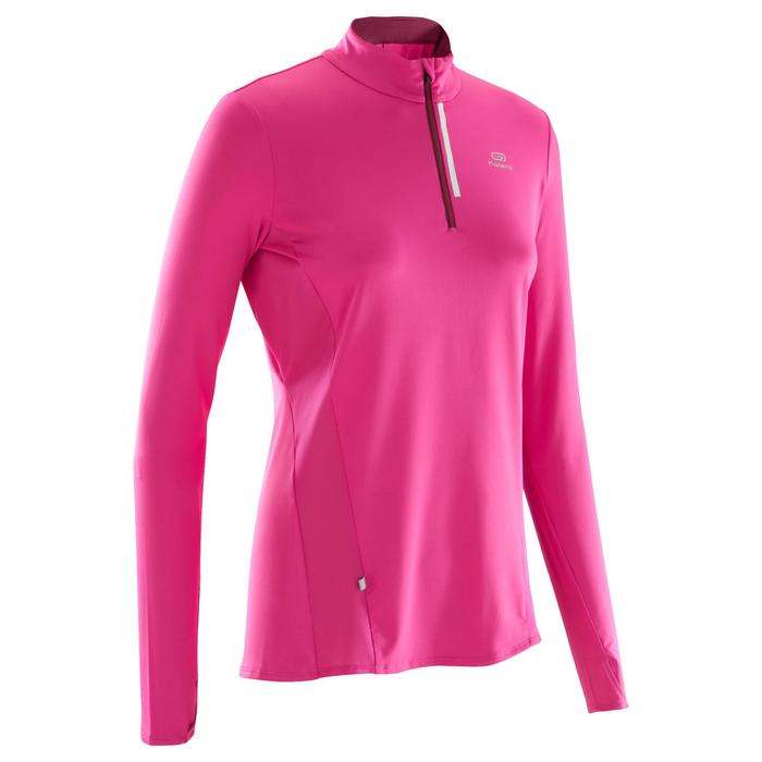 Run Dry + Zip Women's Running Long-Sleeved Shirt - Pink - 1172814