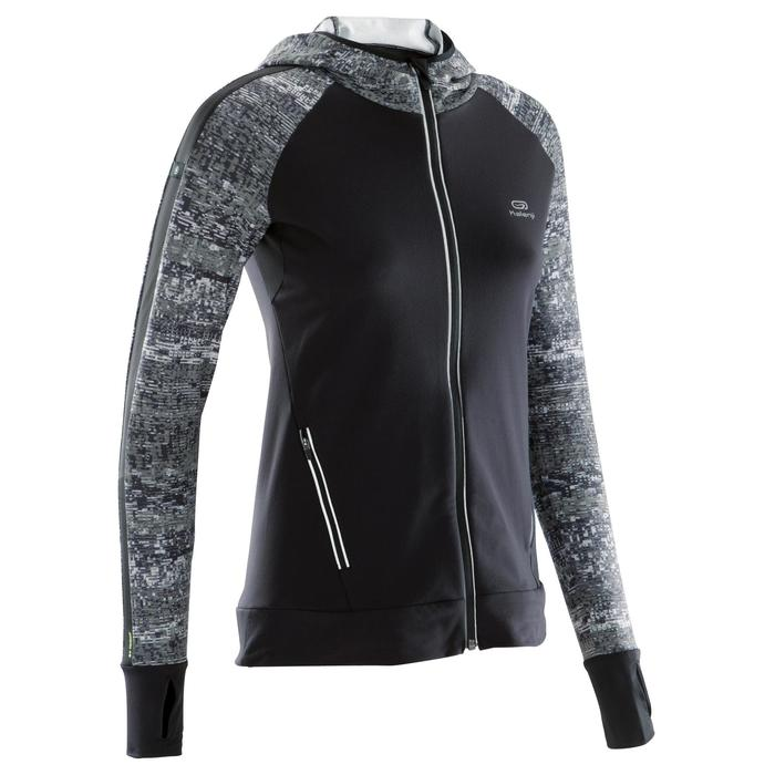 Run Warm Women's Running Jacket Hood - Black  - 1172817