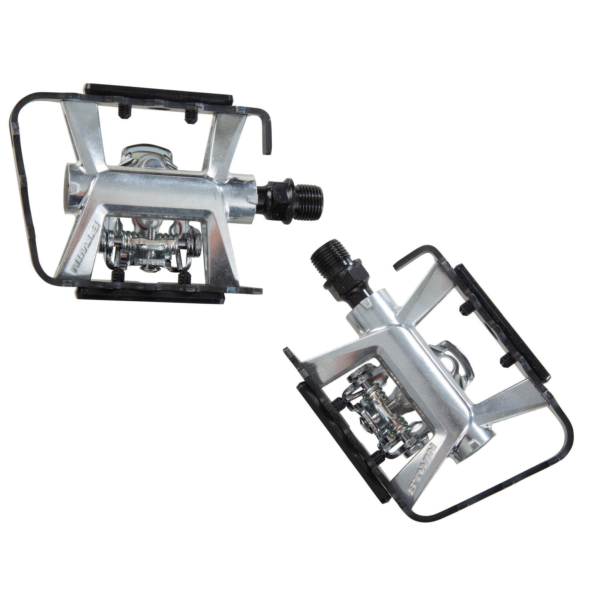 b 39 twin pedales vtt semi automatiques 500 compatibles shimano spd decathlon. Black Bedroom Furniture Sets. Home Design Ideas