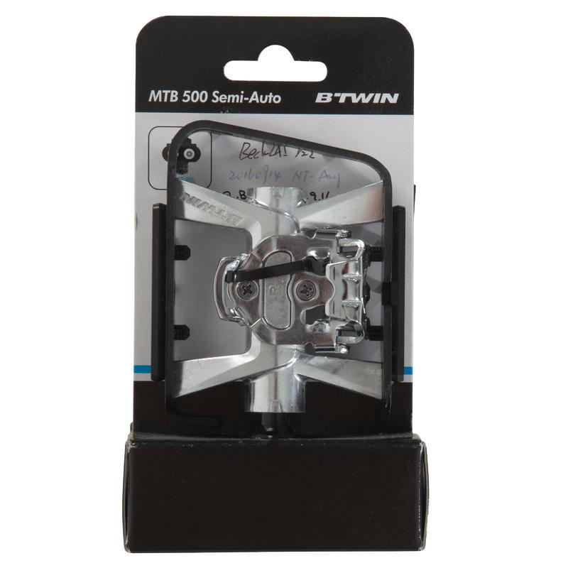 SPD-Compatible Clipless Flat Mountain Bike Pedals 500