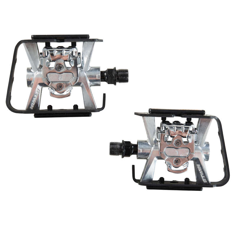MTB PEDALS & CLEATS Cycling - SPD Dual MTB Pedals 500 ROCKRIDER - Bike Parts