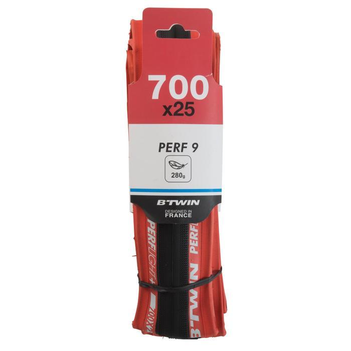 Raceband Perf 9 700x25 Light rood vouwband ETRTO 25-622