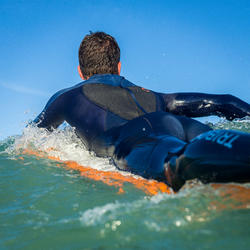 Heren surfpak 500 neopreen 3/2 mm blauw - 1172996