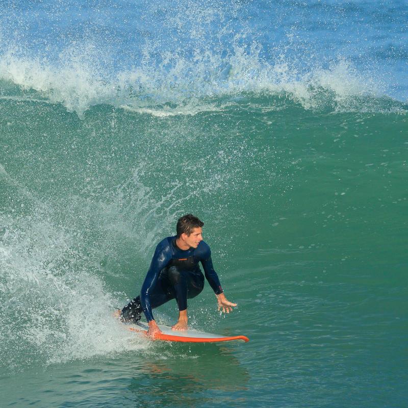 500 Men's 3/2 mm Neoprene Surfing Wetsuit - Blue