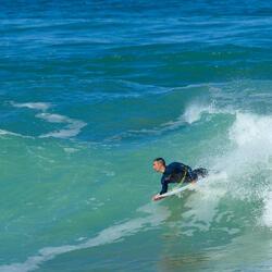 Heren surfpak 500 neopreen 3/2 mm blauw - 1172998