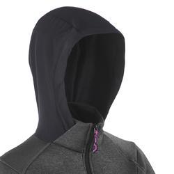 Warme stretch damessweater voor trekking Forclaz 900 gemêleerd - 1173522