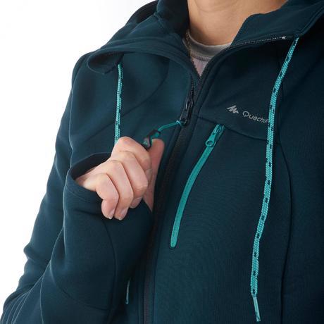 Veste polaire femme bleu turquoise