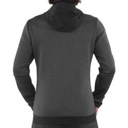 Warme stretch herensweater voor trekking Forclaz 900 gemêleerd grijs - 1173529
