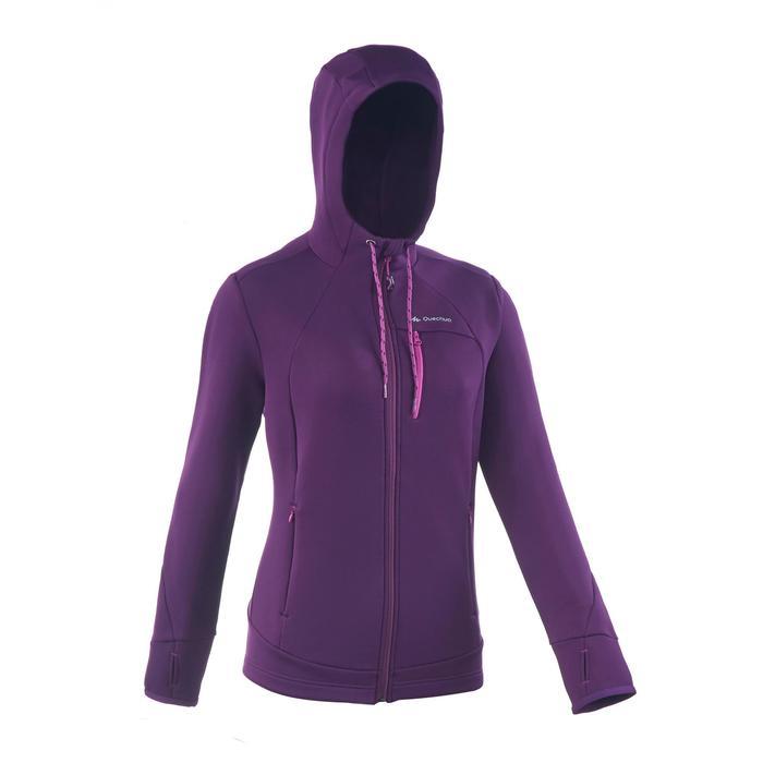 Veste polaire de randonnée montagne femme Forclaz 400 stretch - 1173531