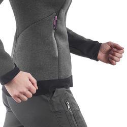 Warme stretch damessweater voor trekking Forclaz 900 gemêleerd - 1173534