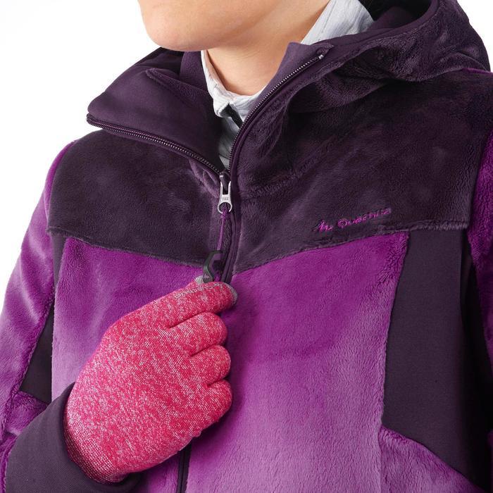 Veste polaire de randonnée montagne Forclaz 500 femme pourpre