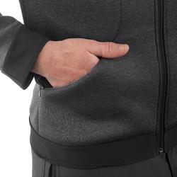 Warme stretch herensweater voor trekking Forclaz 900 gemêleerd grijs - 1173544