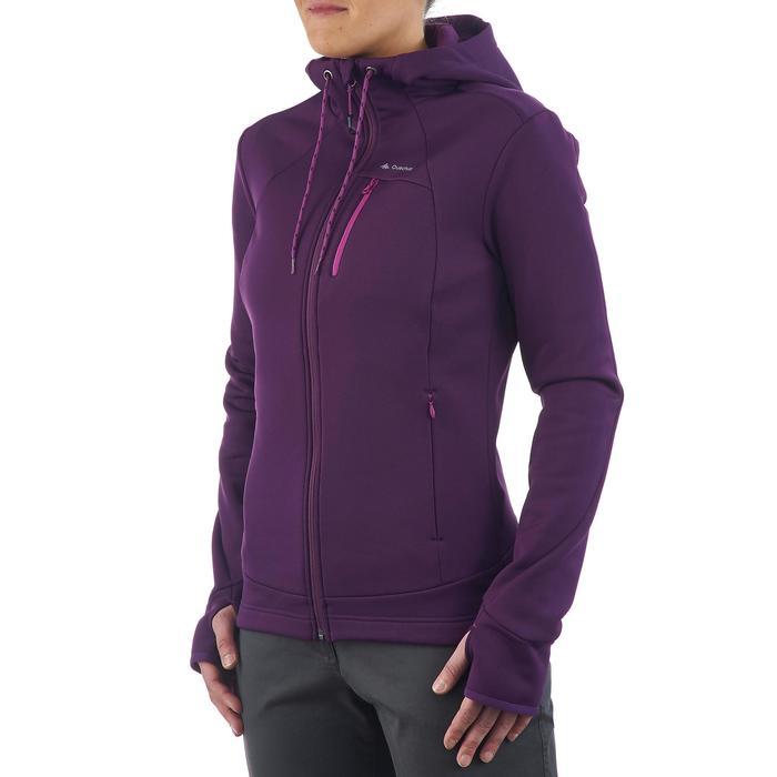 Veste polaire de randonnée montagne femme Forclaz 400 stretch - 1173550