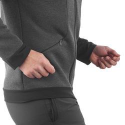 Warme stretch herensweater voor trekking Forclaz 900 gemêleerd grijs - 1173556