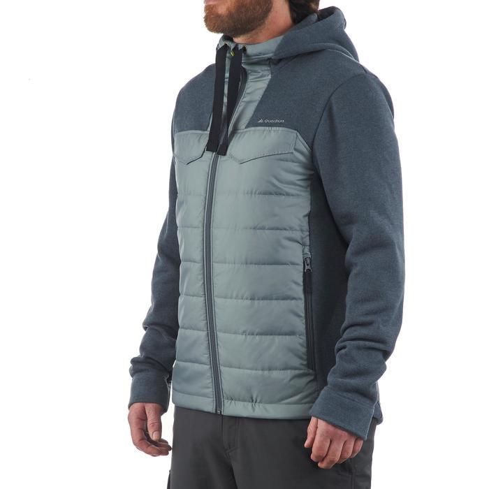 Men's nature hike pullover Arpenaz Hybrid brown - 1173564