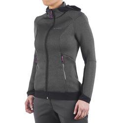 Warme stretch damessweater voor trekking Forclaz 900 gemêleerd - 1173569