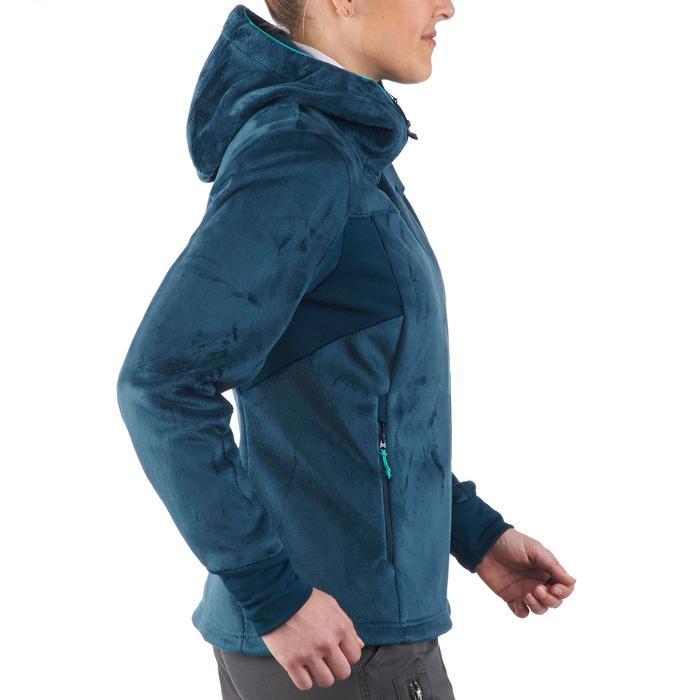 Veste polaire de randonnée montagne femme Forclaz 500 turquoise