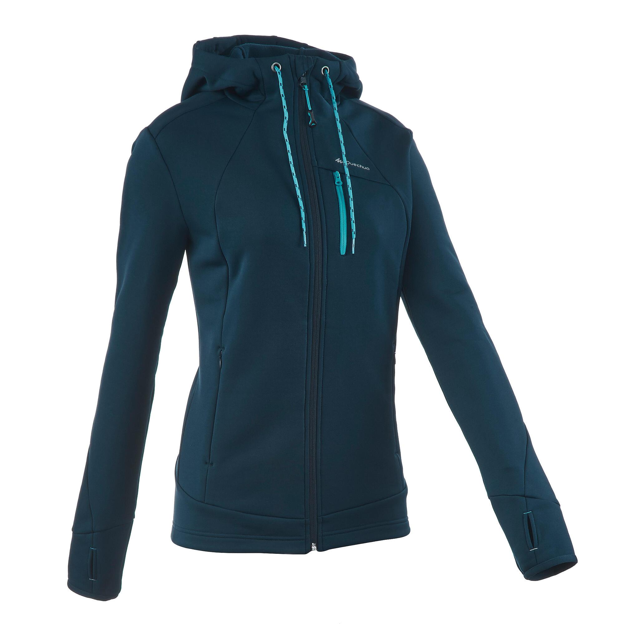 forclaz 400 stretch womens mountain hiking fleece jacket