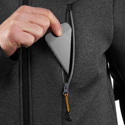 Warme stretch herensweater voor trekking Forclaz 900 gemêleerd grijs - 1173600