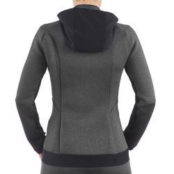Warme stretch damessweater voor trekking Forclaz 900 gemêleerd - 1173608