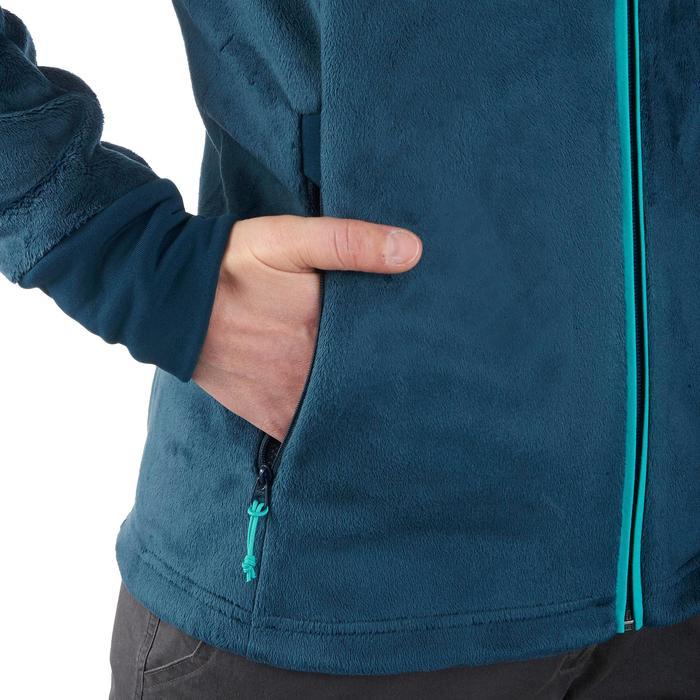 Veste polaire de randonnée montagne femme MH520 Turquoise