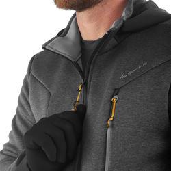 Warme stretch herensweater voor trekking Forclaz 900 gemêleerd grijs - 1173633