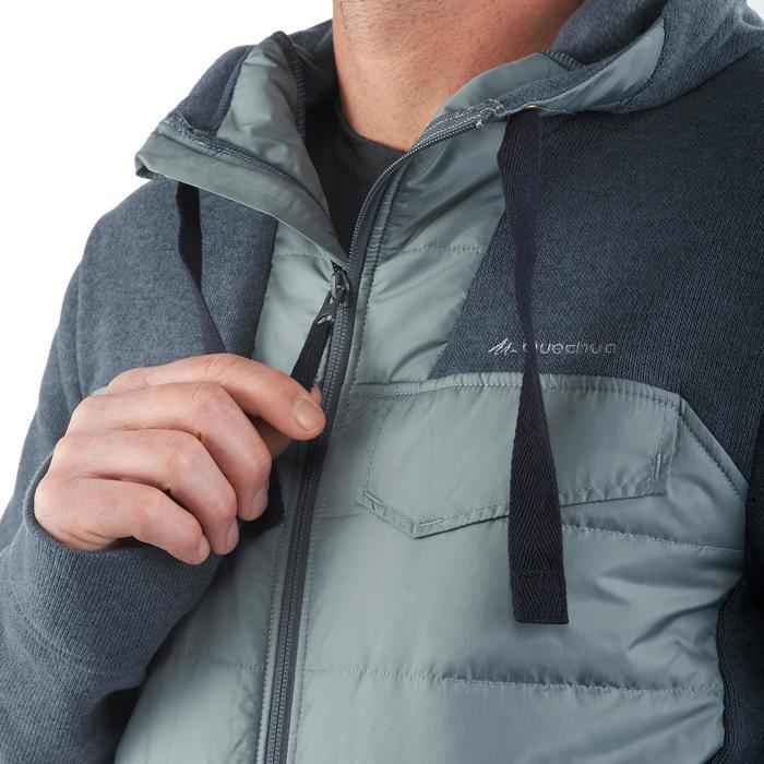Men's nature hike pullover Arpenaz Hybrid brown - 1173638